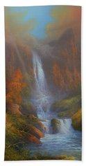 Yosemite Bridal Veil Falls Beach Sheet by Joe Gilronan