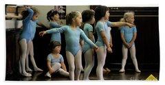 Young Ballet Dancers  Beach Towel