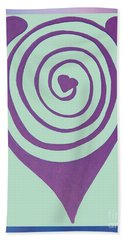 Zen Heart Labyrinth Path Beach Sheet