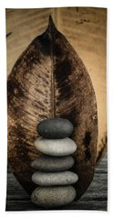 Zen Stones II Beach Sheet by Marco Oliveira