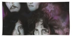 Led Zeppelin - ' Zeppelin ' Beach Towel by Christian Chapman Art