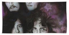 Led Zeppelin - ' Zeppelin ' Beach Sheet by Christian Chapman Art