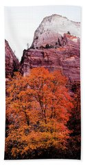Beach Towel featuring the photograph Zion National Park by Norman Hall