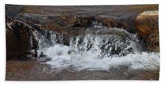 Waterfall Westcliffe Co Beach Towel