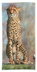 Cheetah Beach Towel by David Stribbling