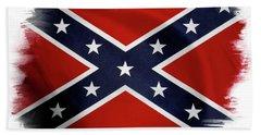 Confederate Flag 10 Beach Sheet
