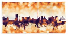 Dublin Ireland Skyline Beach Towel