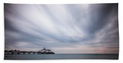 10 Minute Exposure Of Eastbourne Pier Beach Towel