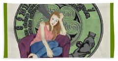 Beach Towel featuring the digital art 10 Months by Megan Dirsa-DuBois