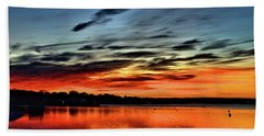 Sunrise Onset Pier Beach Towel