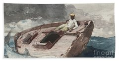 The Gulf Stream Beach Sheet by Winslow Homer