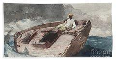 The Gulf Stream Beach Sheet by Winslow Homer