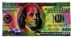 Benjamin Franklin - Full Size $100 Bank Note Beach Towel