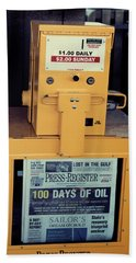 Beach Towel featuring the photograph 100 Days Of Oil by Toni Hopper
