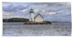 1000 Island Lighthouse Beach Towel by Sharon Batdorf