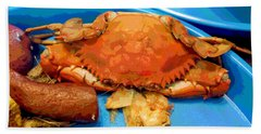101516 Crab Boil Beach Towel