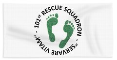 101st Rescue Squadron Beach Towel