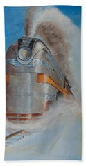 104 Mph In The Snow Beach Towel by Christopher Jenkins