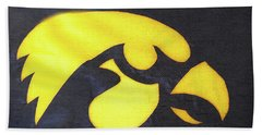 10724  Iowa Hawkeye Beach Towel by Pamela Williams
