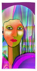 1079   Mysterious  Lady With A Veil   V Beach Towel