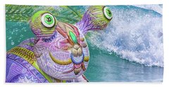 10859 Aliens In Paradise Beach Towel by Pamela Williams