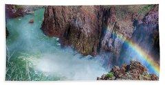 10883 Rainbow Over Owyhee Beach Towel by Pamela Williams