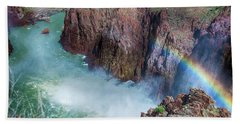 10883 Rainbow Over Owyhee Beach Sheet by Pamela Williams