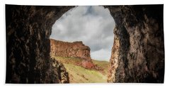 10888 Lake Owyhee Road Tunnel Beach Sheet by Pamela Williams