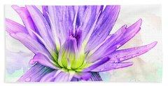 10889 Purple Lily Beach Towel by Pamela Williams