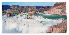 10917 Shoshone Falls Beach Towel by Pamela Williams