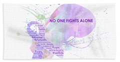 10969 No One Fights Alone Beach Towel