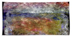 10c Abstract Expressionism Digital Painting Beach Towel