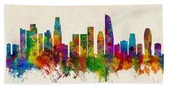 Los Angeles California Skyline Beach Towel