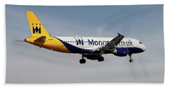 Monarch Airlines Airbus A320-214 Beach Towel