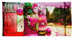 Russian Matrushka Dolls Wall Art Beach Sheet