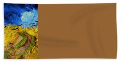 Wheatfield With Crows Beach Towel