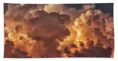 Thunderhead At Sunset Beach Towel