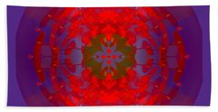 1217 -   Mandala Red 2017 Beach Towel