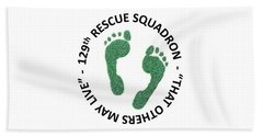 129th Rescue Squadron Beach Towel