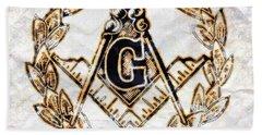 Ancient Freemasonic Symbolism By Pierre Blanchard Beach Towel