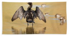 Neotropic Cormorant Beach Sheet by Tam Ryan