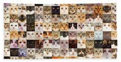 140 Random Cats Beach Towel
