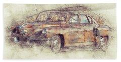 148 Tucker Torpedo - Tucker Sedan - Tucker 48 - 1948 - Automotive Art - Car Posters Beach Towel