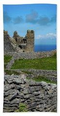 Beach Towel featuring the photograph 14th Century O'brien's Castle Aran Islands by James Truett