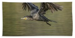 Neotropic Cormorant Beach Towel by Tam Ryan
