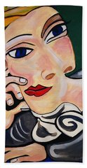 Picasso By Nora Beach Towel