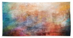 15b Abstract Sunrise Digital Landscape Painting Beach Towel