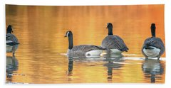 Beach Towel featuring the photograph Canada Geese by Tam Ryan