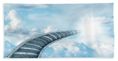 Beach Towel featuring the digital art Stairway To Heaven by Les Cunliffe