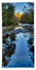 Stone Mountain North Carolina Scenery During Autumn Season Beach Sheet